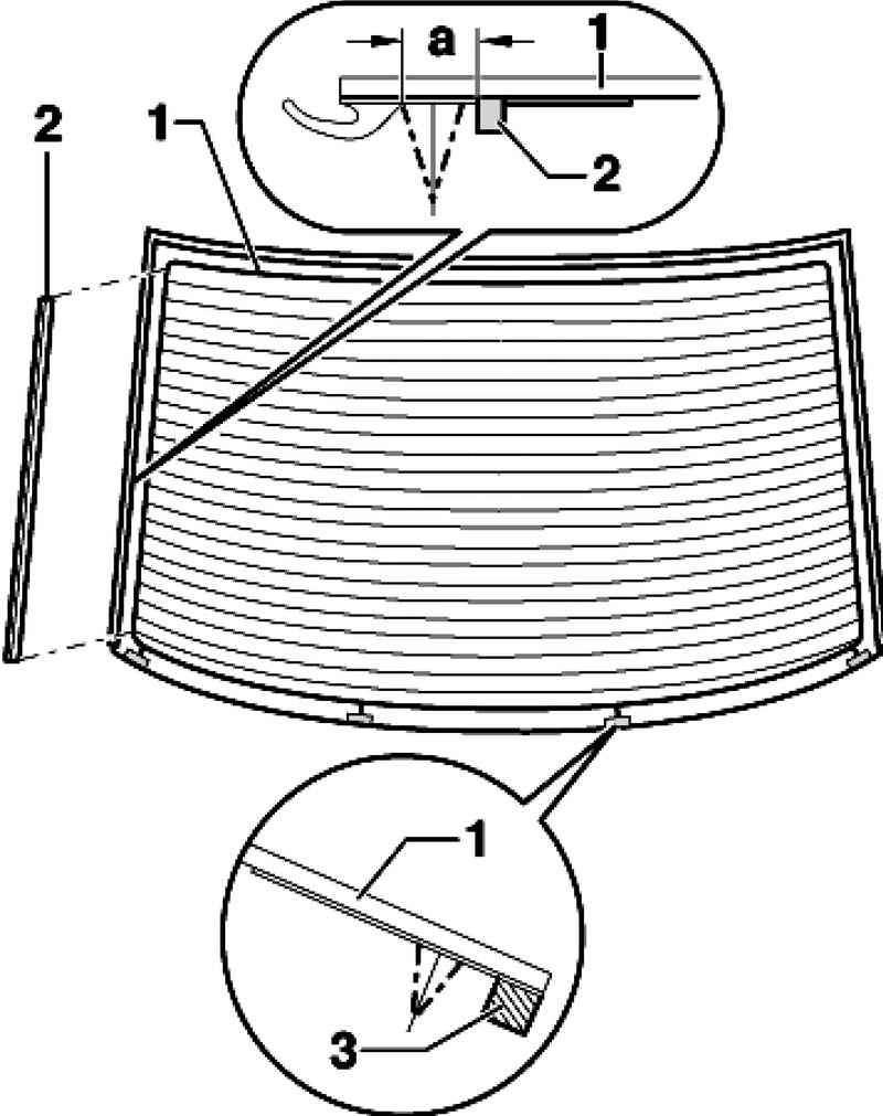 Схема укладки профиля стекла крышки багажника