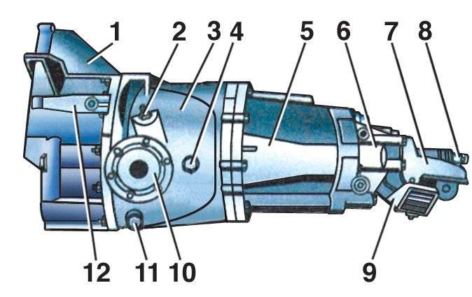 5 – картер коробки передач;