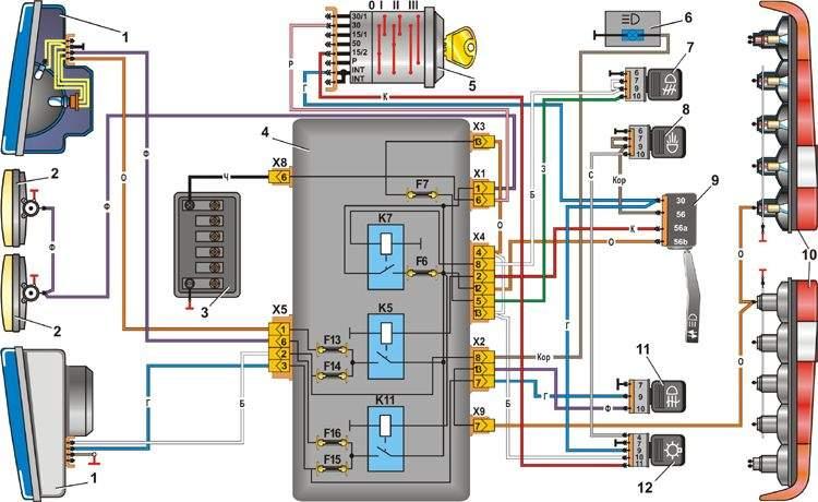 6 – сигнальная лампа включения