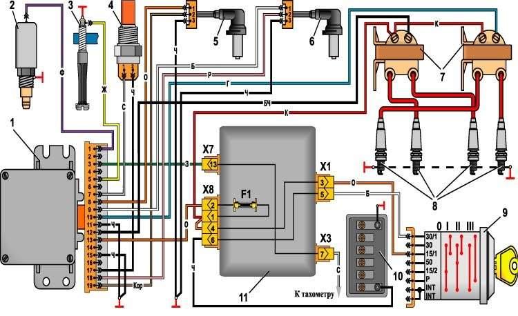 Микропроцессорное зажигание своими руками схема