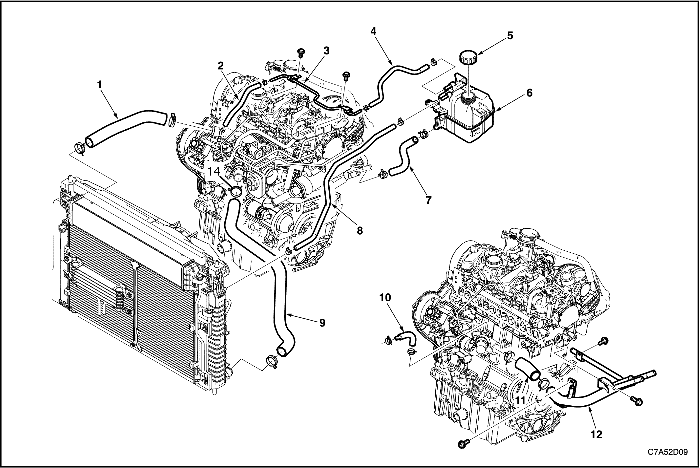 Система охлаждения авео 1.2 схема
