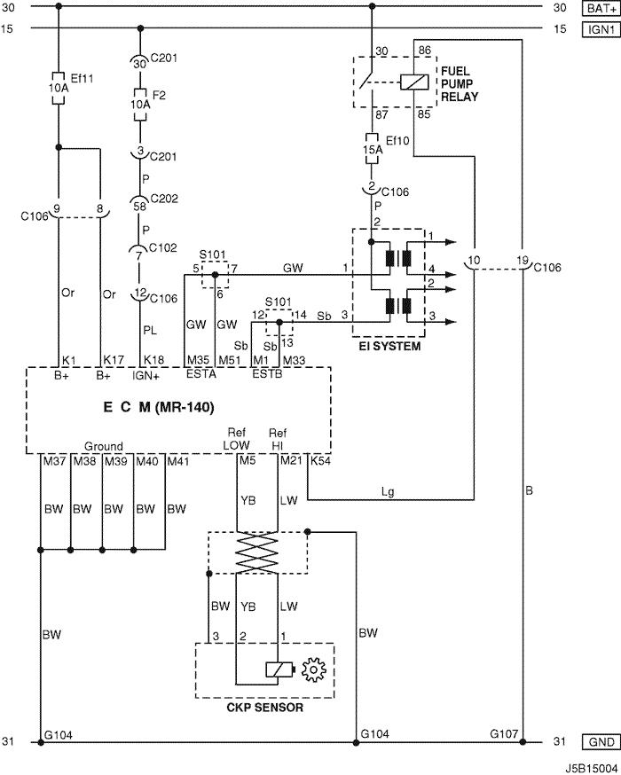 electrical wiring diagram 2004 nubira lacetti 2 ecm (engine control