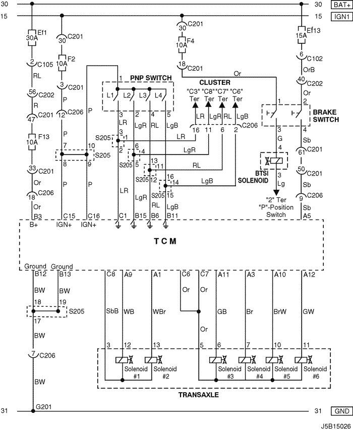 Electrical Wiring Diagram 2005 Nubira-Lacetti 5. TCM (TRANSMISSION CONTROL  MODULE) : MR-140/HV-240   Chevrolet Lacetti 2005 Wiring Diagram      pkfnpo.ru