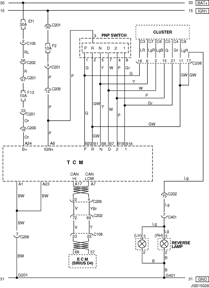 Electrical Wiring Diagram 2005 Nubira Lacetti 6 Tcm