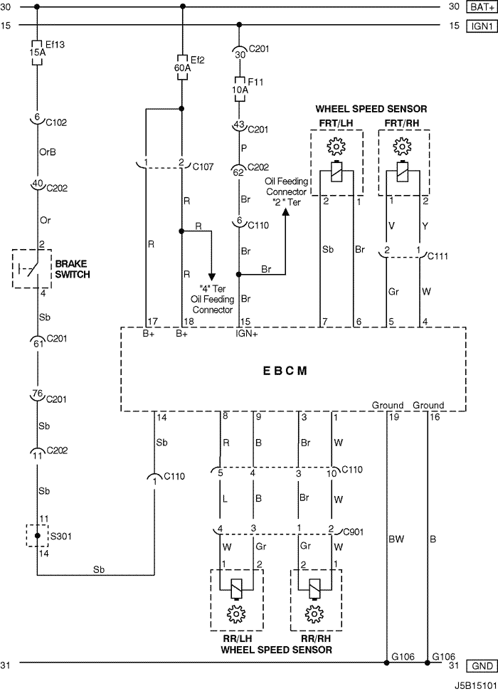 Electrical Wiring Diagram 2005 Nubira Lacetti 27 Abs