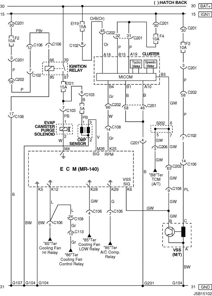 Electrical Wiring Diagram 2004 Nubira Lacetti 2 Ecm