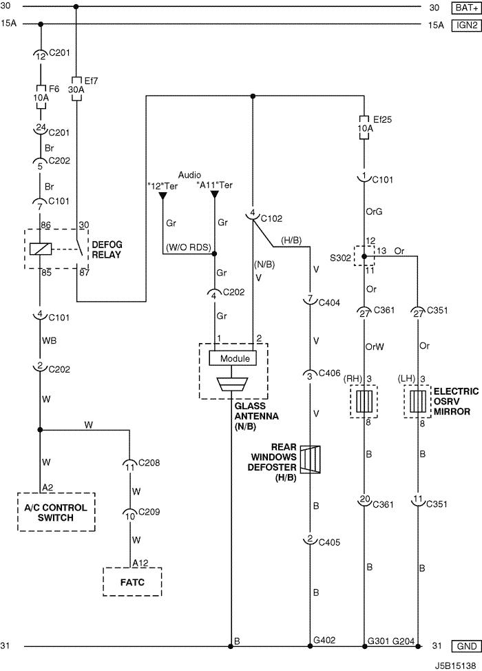electrical wiring diagram 2005 nubira lacetti 20 rear window Electric Rear Window Defogger Kit j5b15138 png