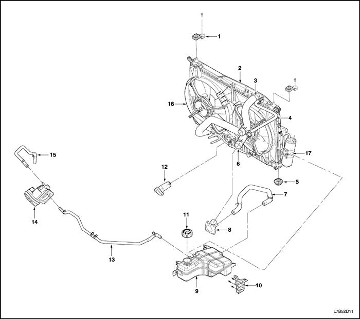 Термостат на шевроле авео схема
