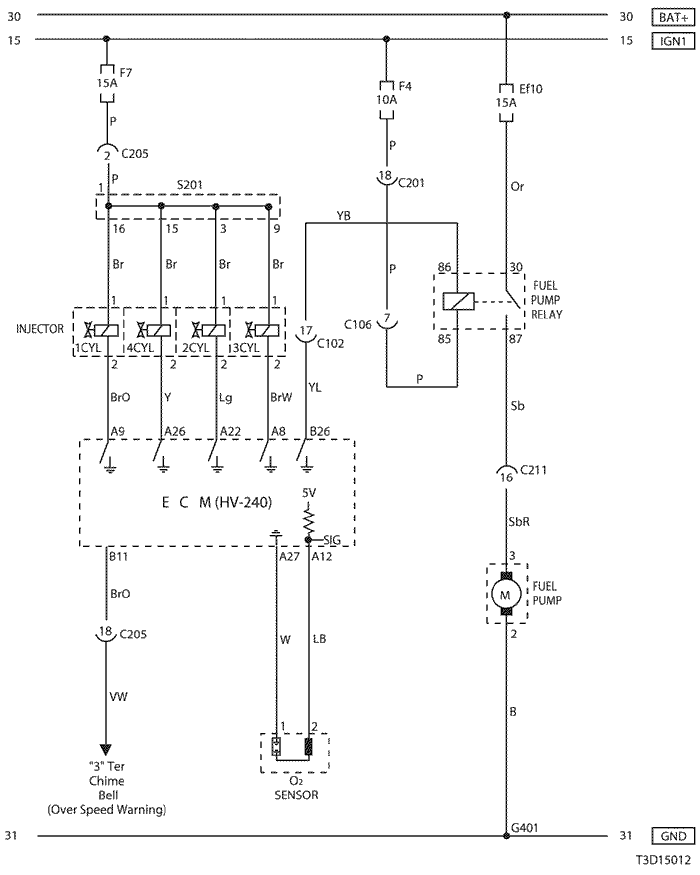 electrical wiring diagram 2005 kalos 3  ecm  engine