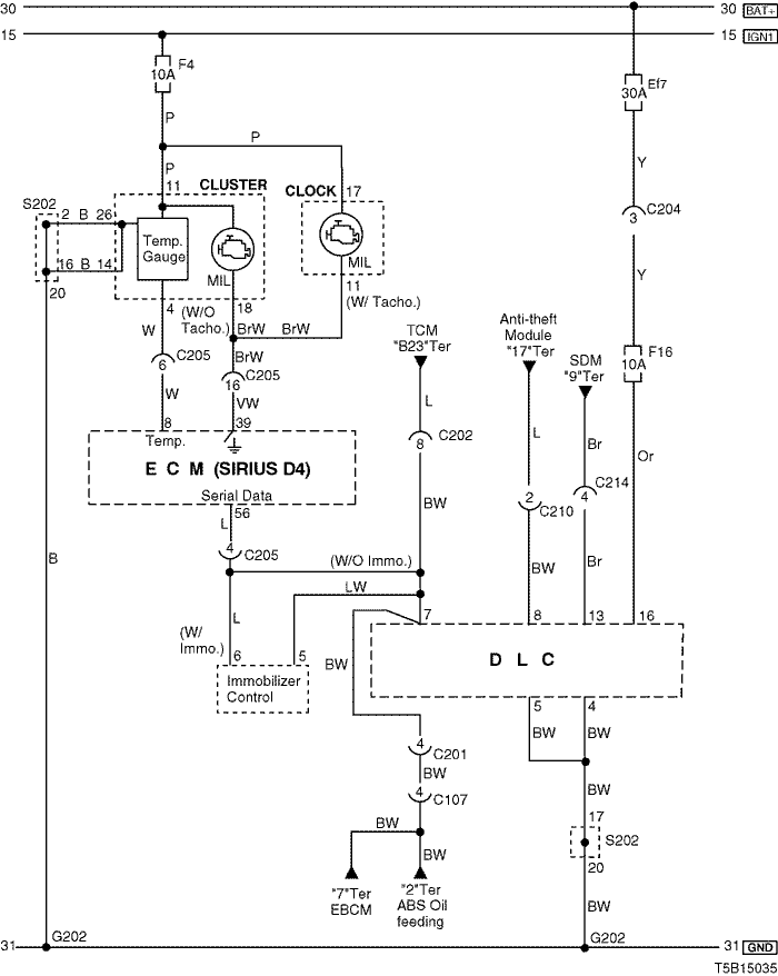 Electrical Wiring Diagram 2005 Kalos 4  Ecm  Engine Control Module    Sirius D4