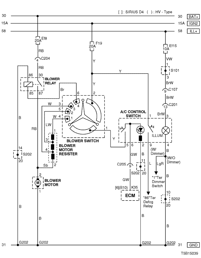 Electrical Wiring Diagram 2005 Kalos 6  Air Conditioner