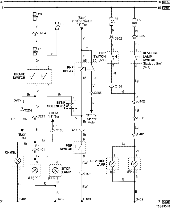 Electrical Wiring Diagram 2005 Kalos 12  Stop Lamp  Center High Mount Stop Lamp  Chmsl