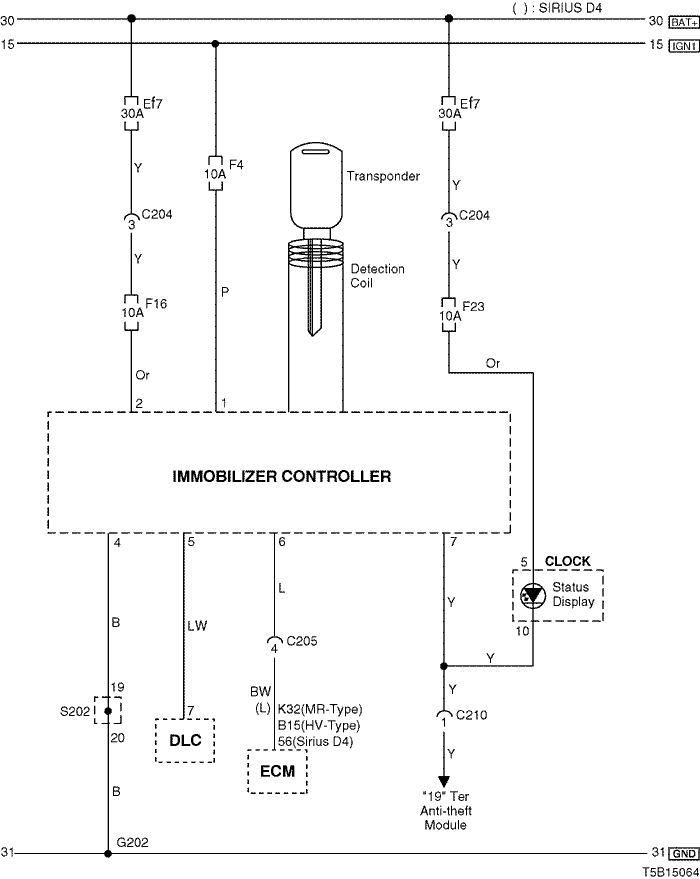 Electrical Wiring Diagram 2005 Kalos 27  Immobilizer System Circuit