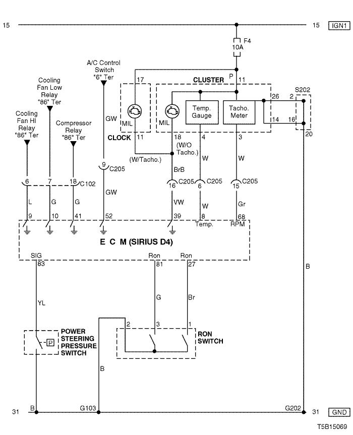 Electrical Wiring Diagram 2005 Kalos 4  Ecm  Engine