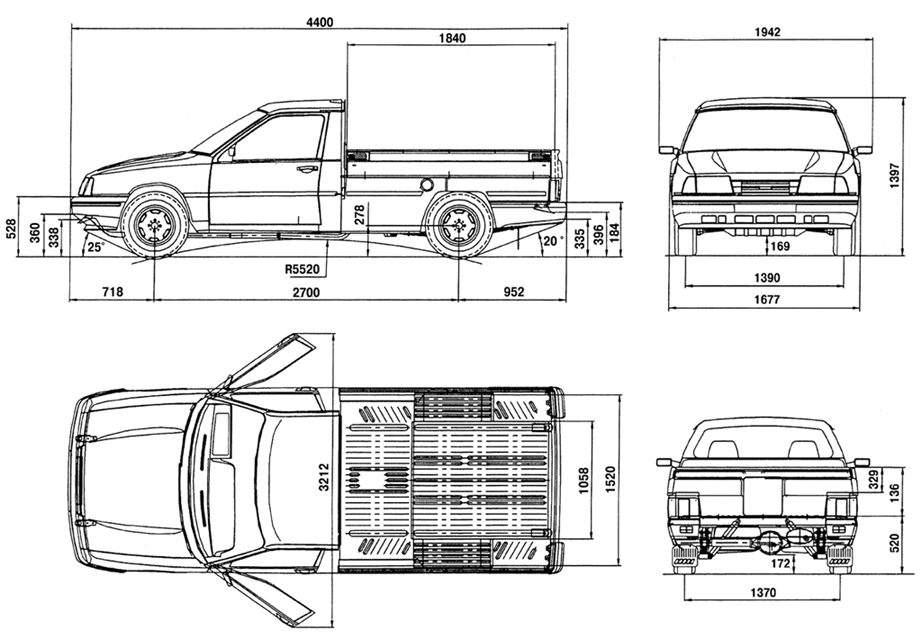 автомобиля Иж-27171