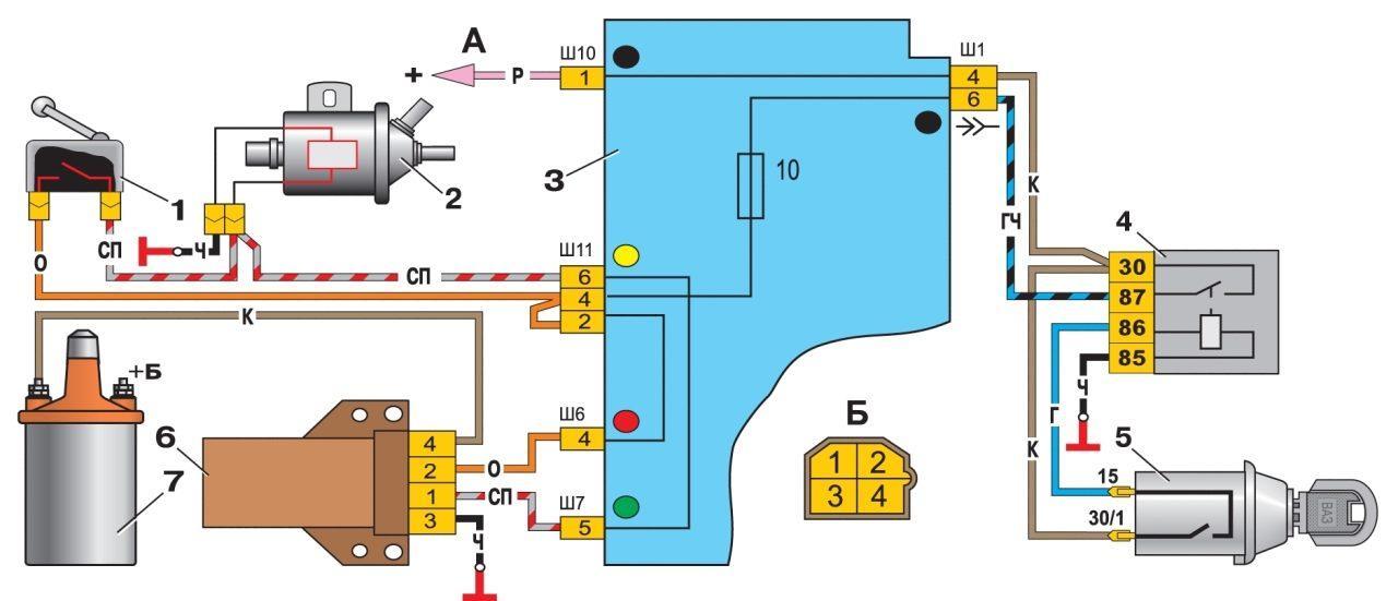 Схема подключения клапана 2109