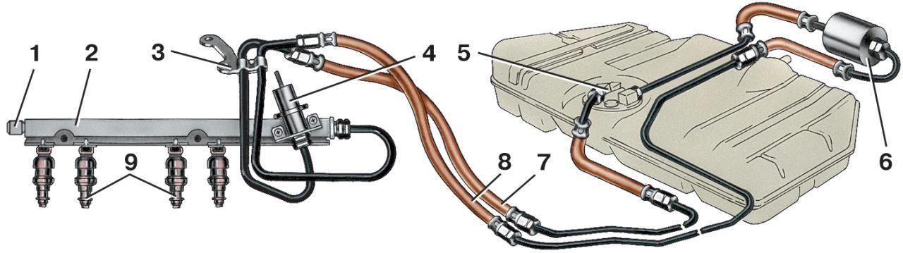 Фото №20 - регулятор давления топливной системы ВАЗ 2110 8 клапанный инжектор