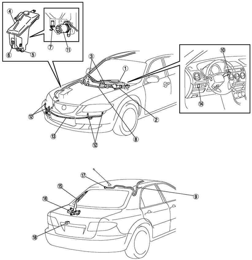 стекол автомобиля Mazda 6: