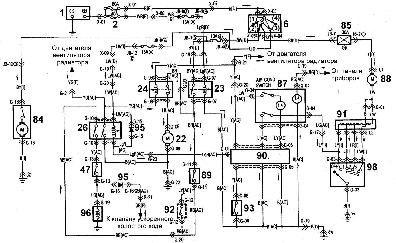 эл схема мазда 626 1986 г стопсигнал