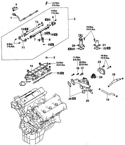 Схема двигателя мицубиси паджеро бензин
