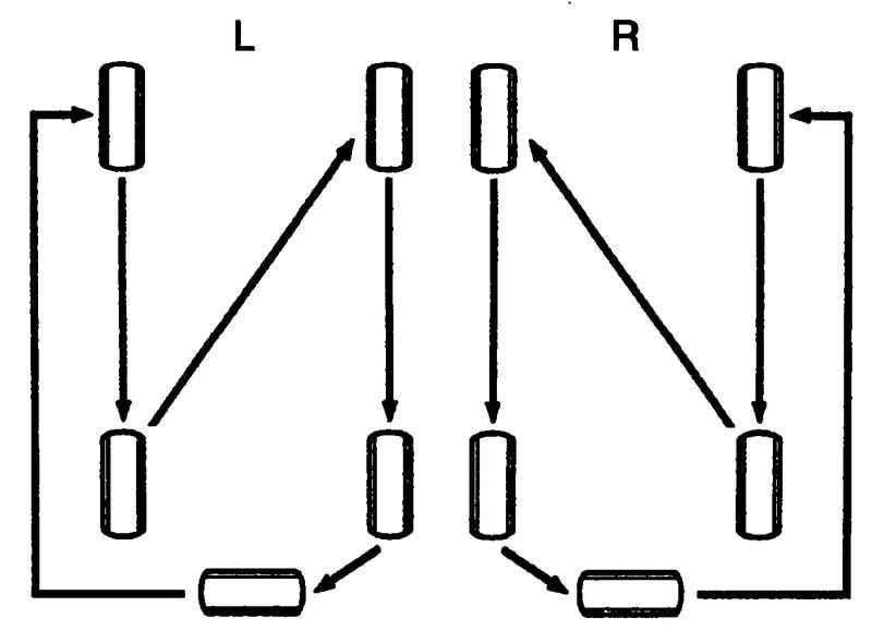 Схема перестановки пяти колес