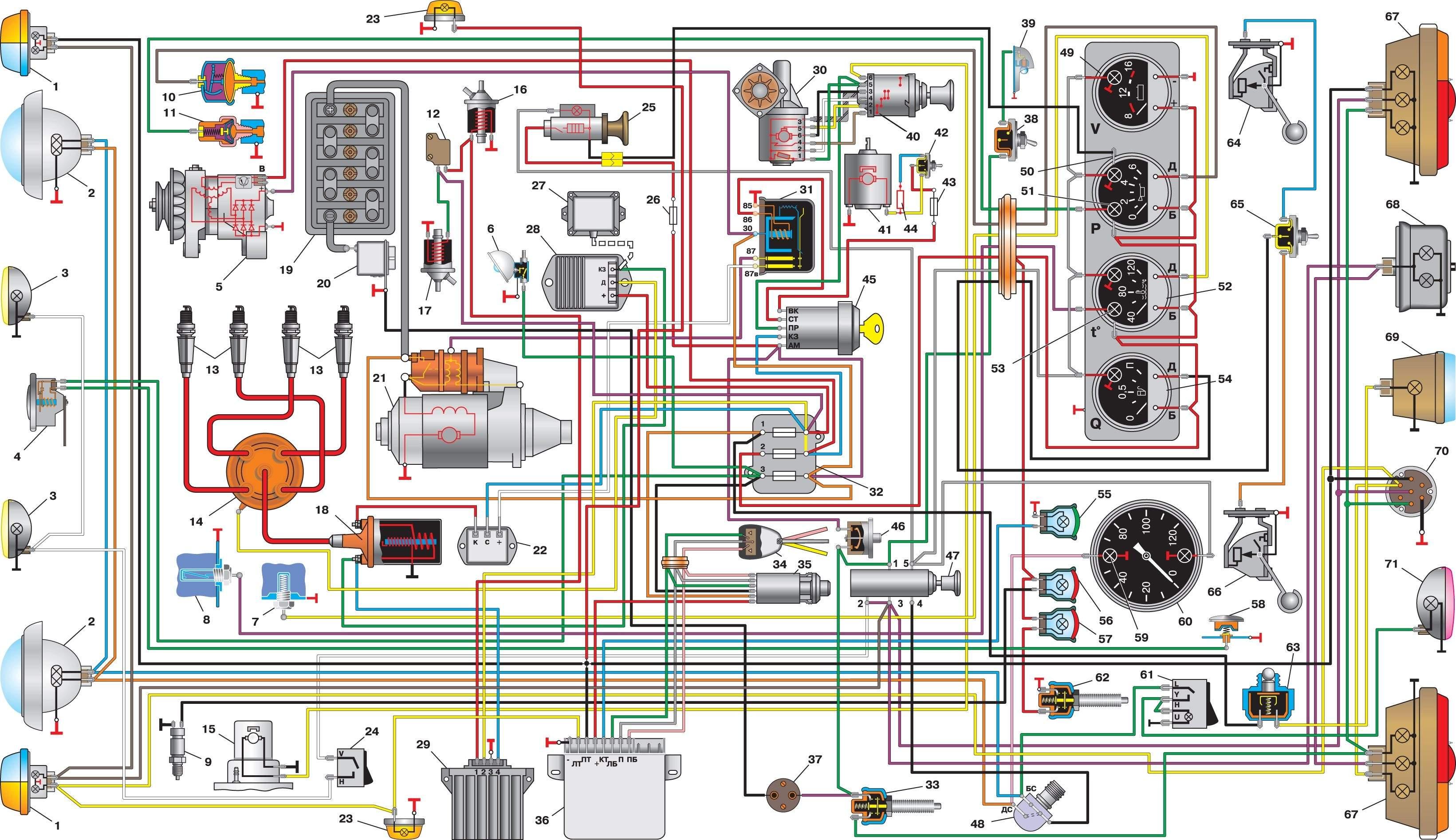 Схема электрооборудования иж 27175 инжектор 90