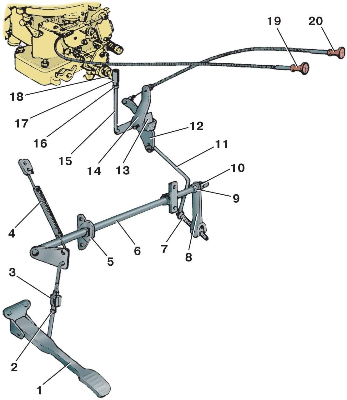 схема установки съёмных жиклеров карбюратора к126г
