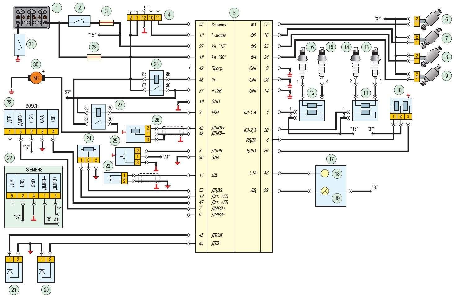 схема електрообладнання змз-406