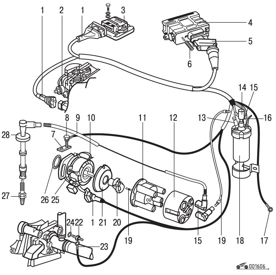 электрическая схема управления двигателем digifant ауди