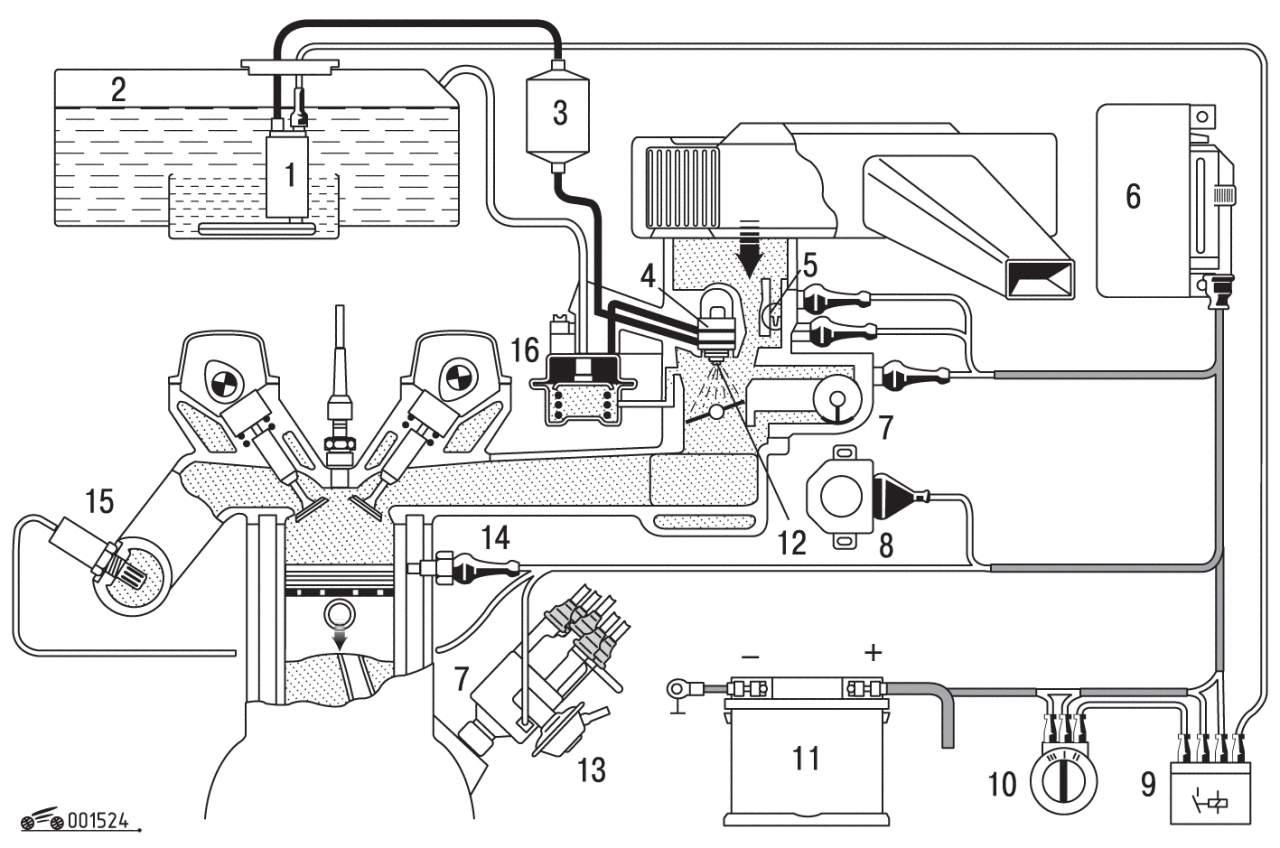 фольксваген пассат б3 1.8 инжектор схема электрооборудования