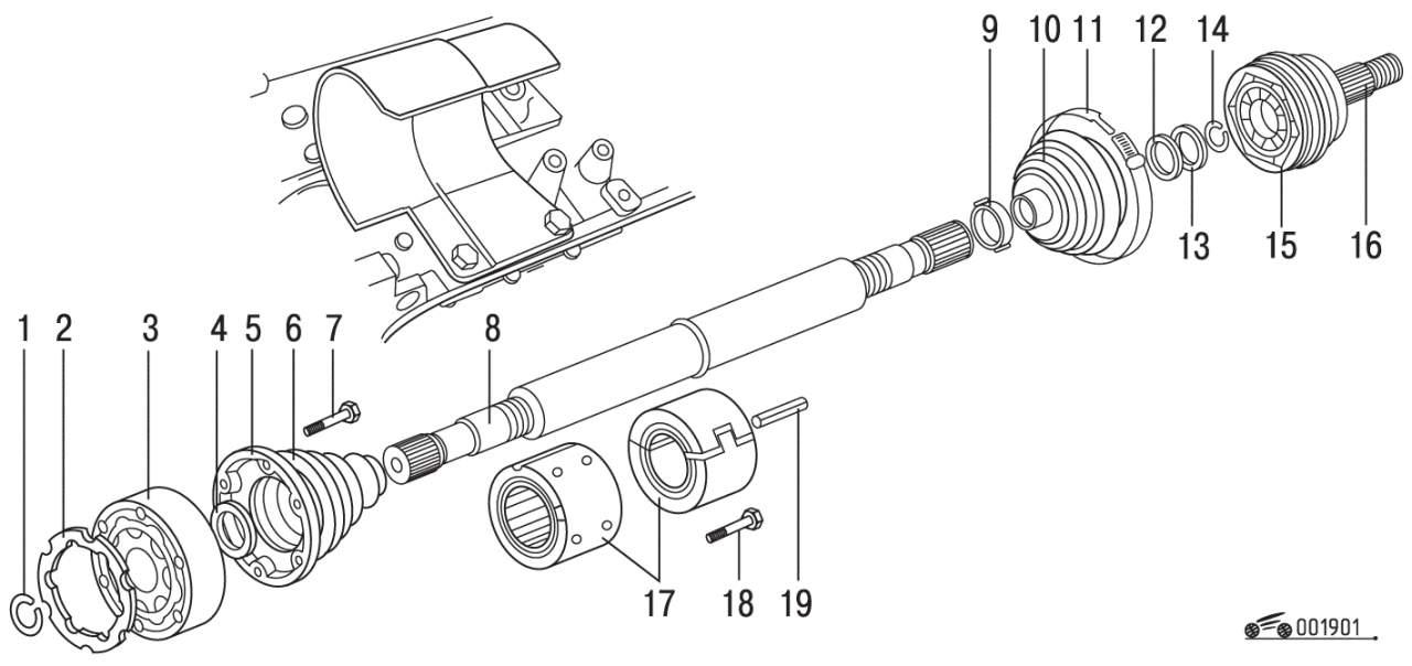 Схема переднего привода 2114