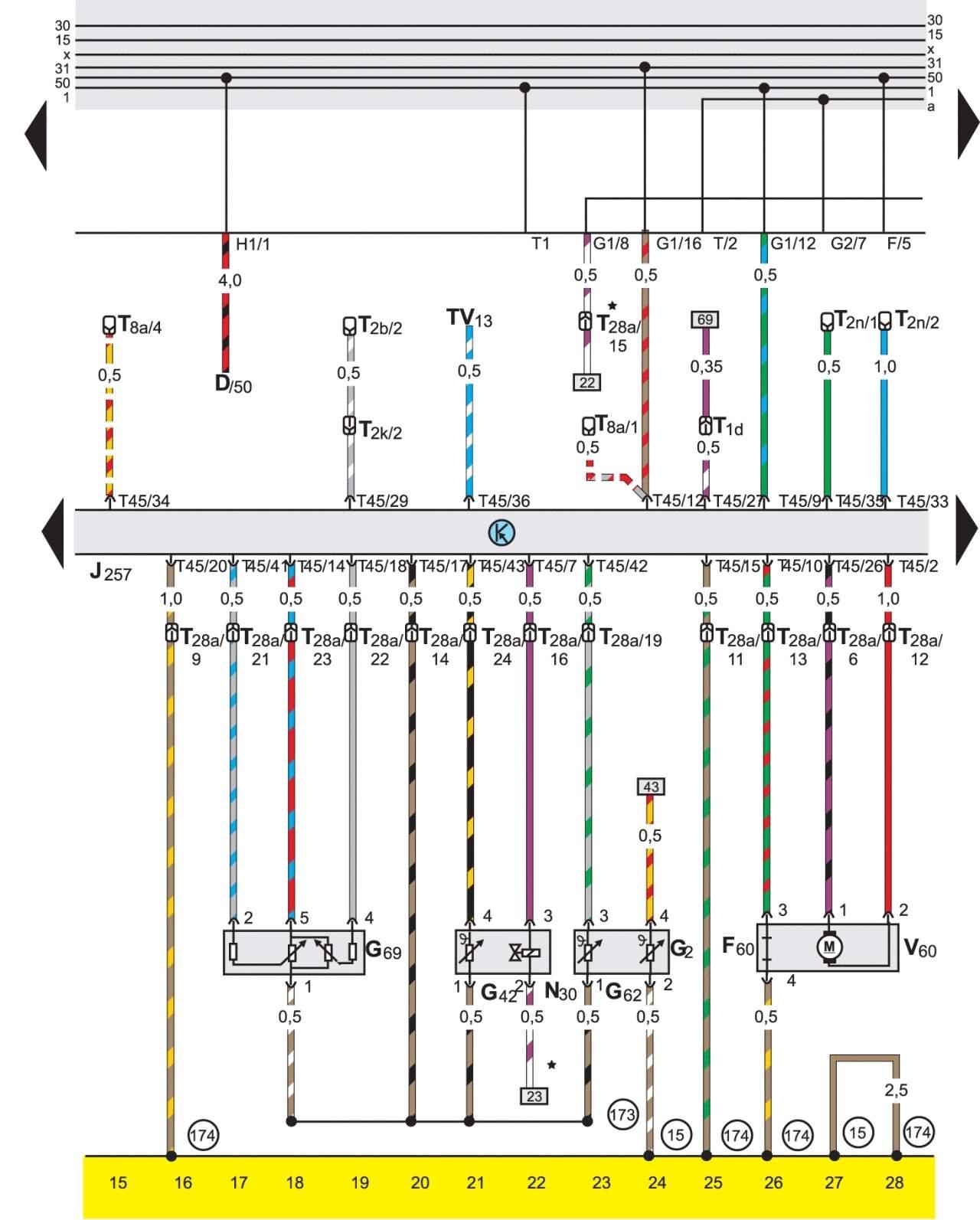 Электро схемы для фольксваген