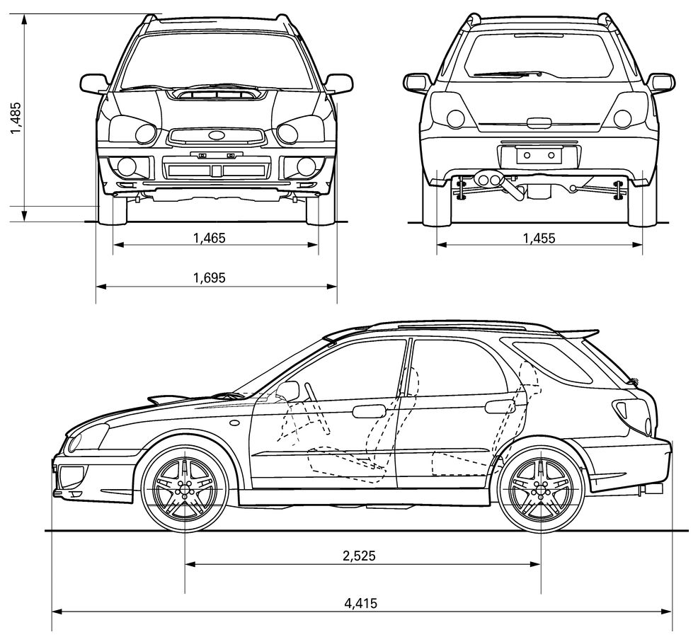 subaru impreza dimensions pictures to pin on pinterest